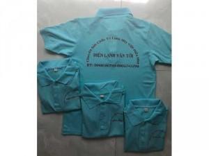 Áo thun đồng phục điện lạnh xanh biển