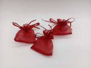 Xưởng túi dây rút nhỏ màu đỏ đựng quà cưới xin