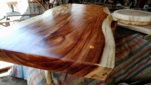 mặt bàn gỗ me tây nguyên tấm dài 1,5m
