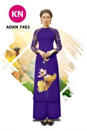 Vải bộ áo dài in đẹp ADKN 7402 (vải áo và vải quần )