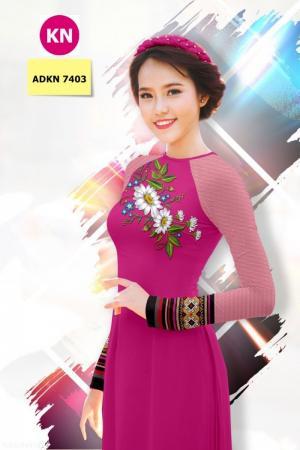 Vải bộ áo dài in đẹp ADKN 7403 (vải áo và vải quần )