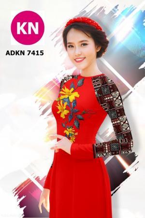 Vải bộ áo dài in đẹp ADKN 7415 (vải áo và vải quần )