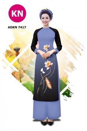 Vải bộ áo dài in đẹp ADKN 05-3984 (vải áo và vải quần )