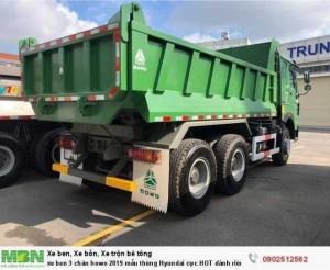 Xe ben 3 chân howo 2019 mẫu thùng Hyundai cực HOT dành riêng cho miền nam