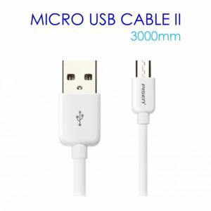 Cáp Sạc Micro USB Pisen Dài 3m Cao Cấp