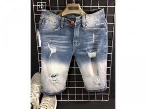 Quần short jeans nam cao cấp rách wax