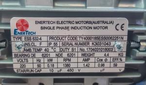 Động cơ điện motor Enertech ESS000184 1 pha...