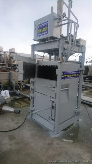 Máy ép rác, ép kiện phế liệu kiểu đứng, Hitech-1T68HP