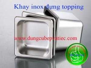 Khay inox đựng topping trà sữa giá rẻ