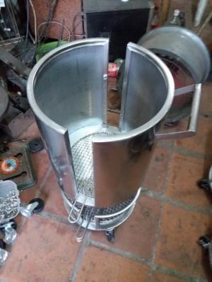 Thùng đựng vỉ dáng tròn inox cao cấp tiện dụng cho quán lẩu nướng