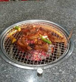 Bếp Nướng Than Hoa Không Khói Hàn Quốc ( Hút Trên)