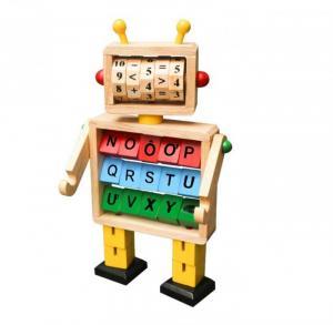 Đồ chơi gỗ robot học chữ và toán