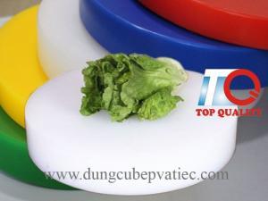 Thớt nhựa tròn công nghiệp cao 100 mm giá rẻ