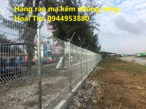 Hàng rào sơn tĩnh điện gập 2 đầu D5 a50x150