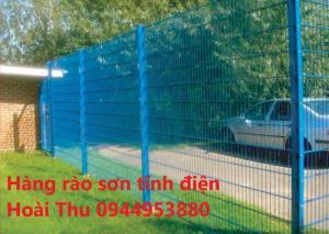 Hàng rào sơn tĩnh điện uốn sóng trên thaanh D5 a(50x150)
