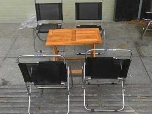 Bàn ghế xiếp lưới bàn gổ xiếp làm tại xư