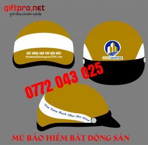 Công ty sản xuất mũ bảo hiểm bất động sản theo yêu cầu làm quảng cáo và quà tặng
