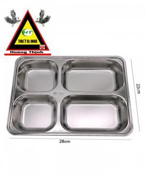 Khay cơm 4 ngăn inox 304 kiểu dáng Hàn Quốc
