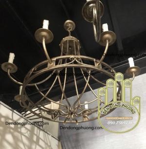 đèn chùm sắt uốn nghệ thuật