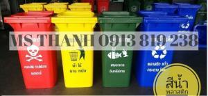 Giá thùng rác nhựa Thai Lan dung tích 240 lit