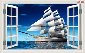 Gạch 3D thuận buồm xuôi gió hdp02
