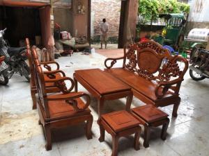 Bộ bàn ghế giả cổ kiểu guột gỗ gụ
