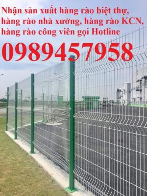 Làm hàng rào sơn phi 5 ô 50x200, 75x200, Lưới thép hàng rào mạ nhúng nóng phi 6