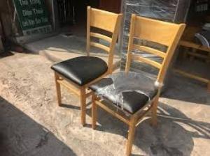 Thanh lý ghế gỗ cafe bọc nệm giá rẻ tphcm