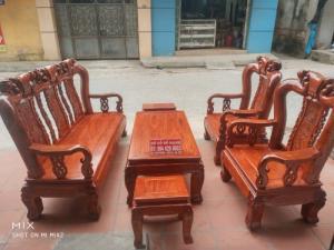Bộ bàn ghế quốc đào gỗ hương vân