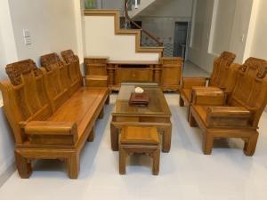 Bộ bàn ghế âu á hộp như ý voi gỗ gõ đỏ,kate