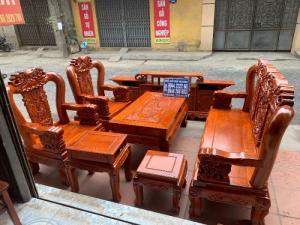 Bộ bàn ghế giả cổ minh quốc voi gỗ hương đá