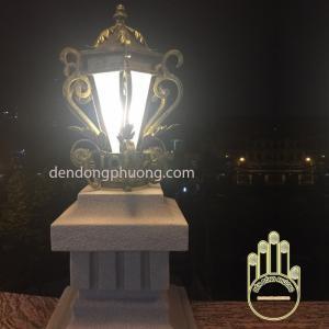 đèn trụ cổng sắt rèn cao cấp
