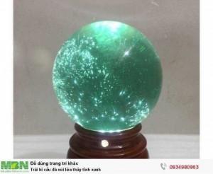 Trái bi cầu đá núi lửa thủy tinh xanh ( sỉ & lẻ ib )