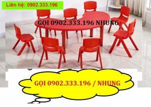 Bộ bàn ghế hình chữ nhật, bàn chữ nhật mầm non