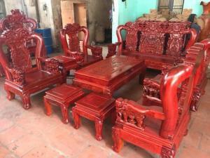 Bộ bàn ghế minh quốc voi gỗ hương nam phi tay 12
