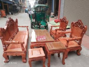 Bộ bàn ghế kiểu louis pháp gỗ hương đá