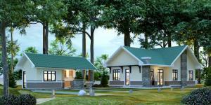 Thiết kế biệt thự nhà vườn mái thái giá rẻ
