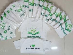 áo thun trắng in logo giá cực rẻ