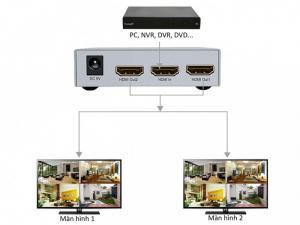 Chia HDMI 1 ra 2 Dtech DT-7142A hàng chính hãng mới 100%
