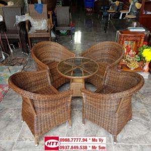 bàn ghế cafe dây tròn cao cấp