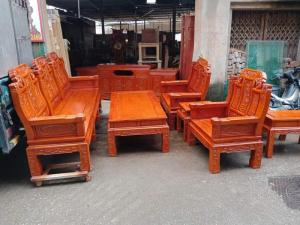 Bộ bàn ghế âu á như ý voi tay đặc gỗ hương đá