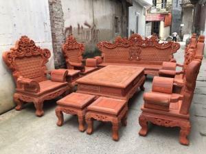 Bộ bàn ghế hoàng gia gỗ hương nam phi