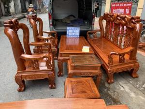 Bộ bàn ghế minh quốc đào nhỏ gỗ hương đá