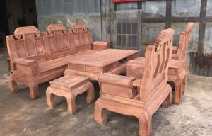 bộ bàn ghế như ý voi hộp chân vanh