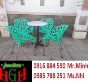 bàn ghế nhựa giá tại xưởng sản xuất HGH 731