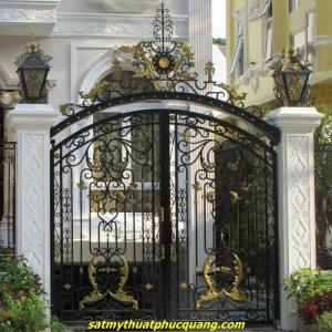 Cửa cổng sắt mỹ thuật - Sang trọng - Bền cực đẹp