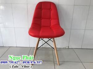 Ghế Cafe M2015. Ghế cafe chân gỗ, ghế nệm cafe. Nệm ngồi Ngọc Phát.