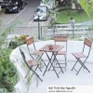 thanh lý bộ bàn ghế cafe sân vườn