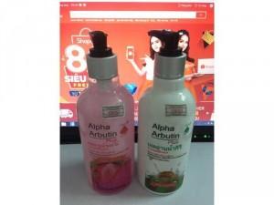 Sữa tắm Anpha Arbutin nhập khẩu từ Thái Lan 320ml