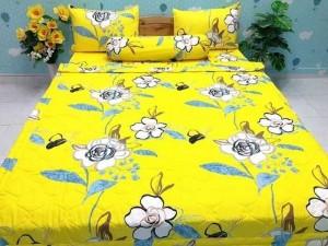 Drap hoa vàng cotton việt nam